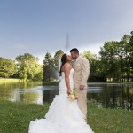 bride-groom-kiss-by-the-lake