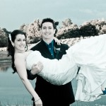bride-groom-smile-by-the-lake