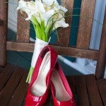 bride-pink-slippers-flowers