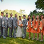 bridesmaids-groomsmen-outdoor-photo